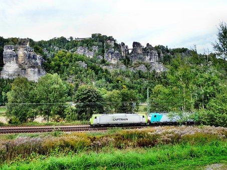 Bastion Area, Train, Saxon Switzerland, Landscape