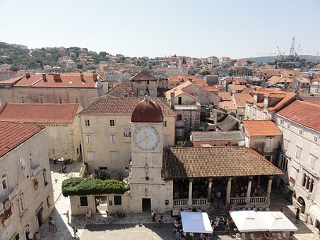 Above The Roofs Of Trogir, Croatia, City