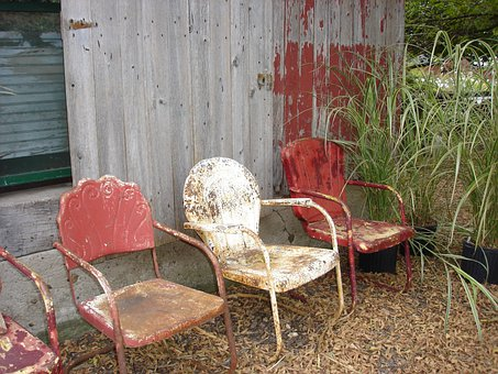 Chairs, Old, Rustic, Furniture, Antiques, Dirty