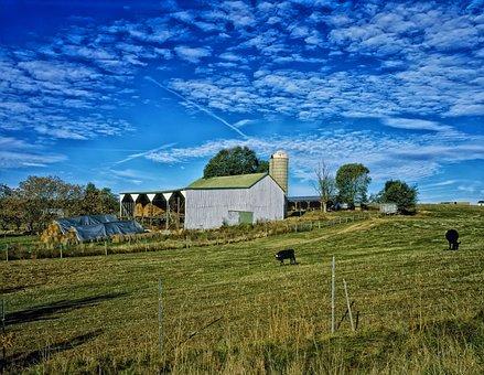 Farm, Rural, Sky, Clouds, Landscape, Scenic, Hdr