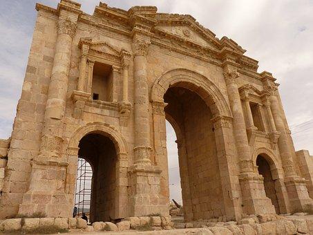Temple Of Artemis, Gerasa, Jerash, Goal, Gate, Jordan