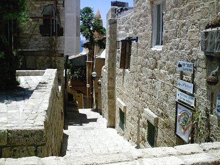 Jaffa, Israel, Old Town, Alley, Jews, Jewish, Homes