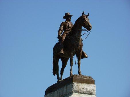Lincoln Park, Ulysses, Statue, Man, America, Chicago