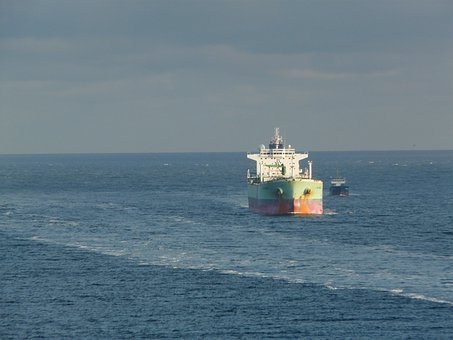 Oil Tanker, Container Ship, Ship, Water, Ships