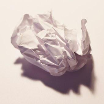 Paper, Crumples, Recycling, Fold, Crumpled, Design, Old