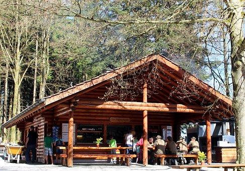 Forest, Forest Tavern, Restaurant, Break, Rest, Idyllic