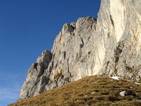 Red Flüh, Steep Wall, Rock Wall, Alpine, Mountains