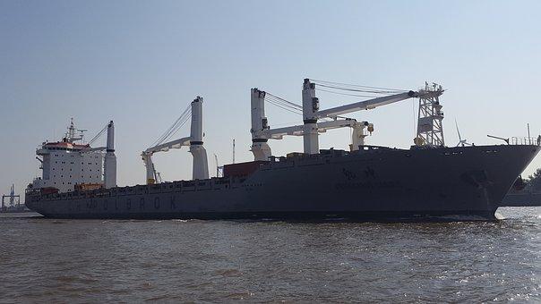 Tanker, Ship, Elbe