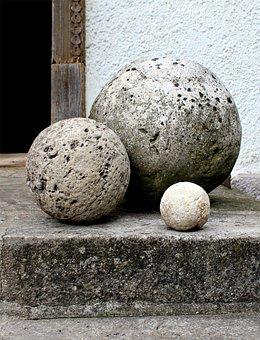 Stone Balls, Stones, Balls, Roly-poly, Sculpture, Art