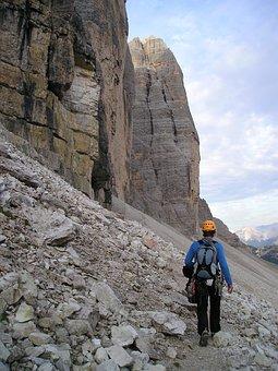 Mountaineer, Climber, Three Zinnen, North Wall