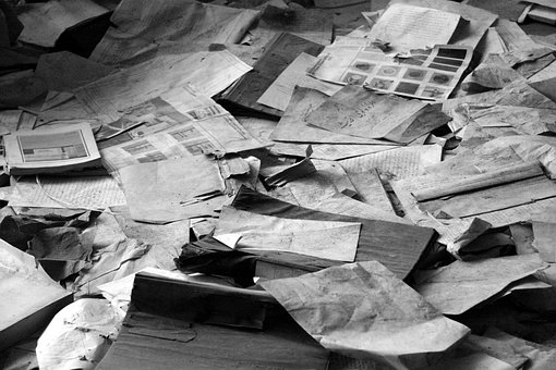 Paper Pile, Waste Paper, Newspapers, Waste