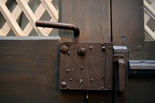 Bags Handle, Sacristy, Church, Door, Castle, Wood, Old