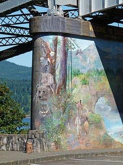 Bridge Pier, Painted, Artwork, Building