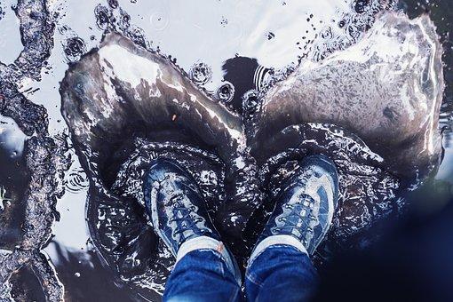 Water, Feet, Inject, Wet, Romance, Background