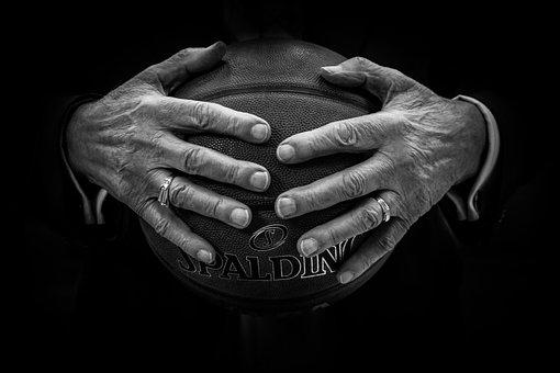 Ball, Basketball, Hands, Rings, Black Basketball