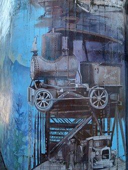 Bridge Pier, Wall Painting, Artwork, Bridge Of The God