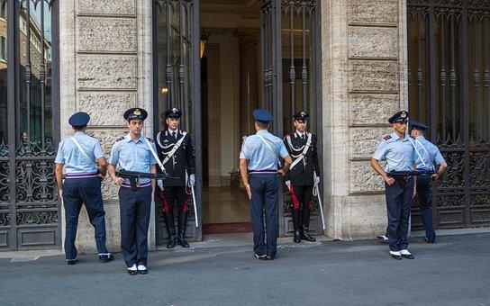 Carabinieri, Honor Guard, Rome, Italy