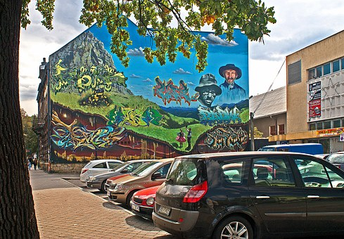 Mural, Picture, Carpathians Offer Festival, Ornament