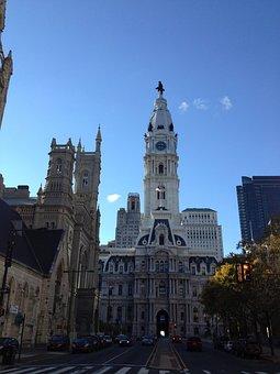 City Hall, Hall, Building, City, Tower, Landmark