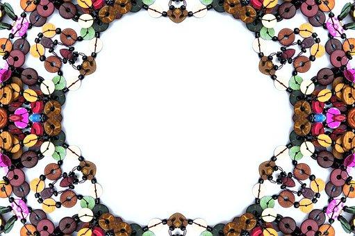 Border, Colorful, Beads, Pattern, Design, Decorative