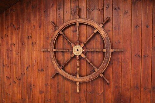 Boat, Brown, Control, Cruise, Handle, Helm, Marine