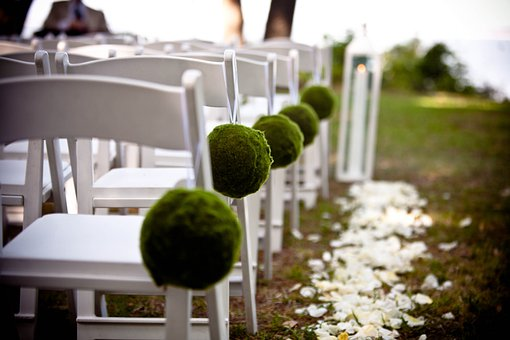 Wedding, Seating, Seats, Chairs, White, Decorated