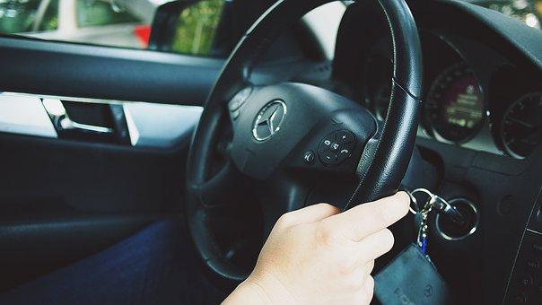 Car, Auto, Driving, Man, Driver, Mercedes, Wheel, Drive