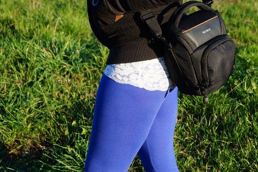 Sony, Feet, Detail, Blue, Color, Nature, Camera, Walk