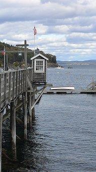 Bar Habor, Maine, Fishing, Jetty, Natural Harbor, Dock
