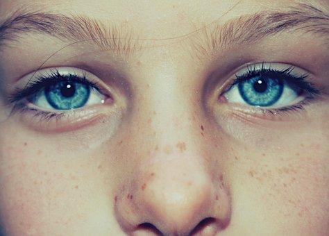 Eye, Clear, Freckles, Face, Little Girl, Woman, Girl