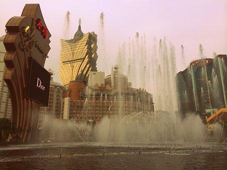 Macau, China, Hotels, Casinos, Gambling, Wynn, Fountain