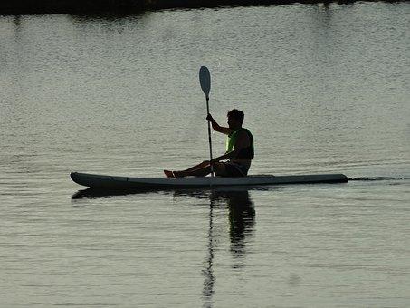 Man, Kayak, Lake, Water, Sport, Kayaking, Activity