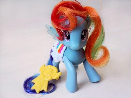 My Little Pony, Toy, Close, Pony, Cute, Blue, Object