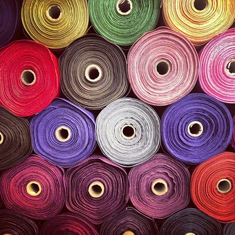 Fabric, Rolls, Colours, Textile, Colorful