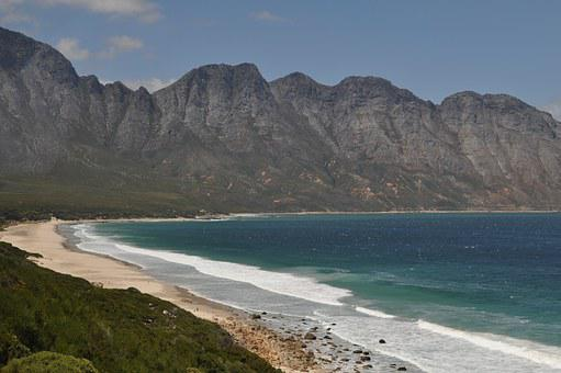South Africa, Side, Mountains, Beach, Sea, The Cap