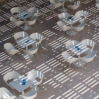 Summer, Silver, Street Cafe, Dining Tables, White