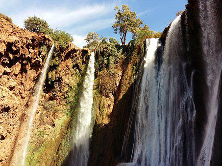 Waterfalls Ouzoud, Morocco, Tanaghmeilt, Azzilal