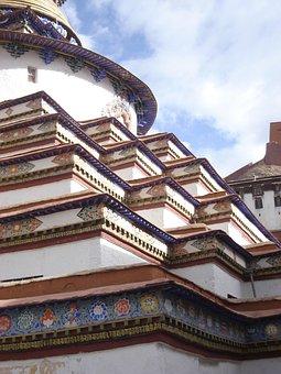 Kumbum, Tibet, Temple, Monastery, Stupa, Gyantse