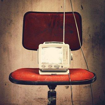 Radio, Television, Grunge, Chair, Media, Portable, Tv