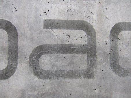 Concrete, Urban, Trist, Grey, Font, Imprint