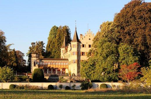Autumn, Castle, Vegetation, Seeburg, Park, Lake Park