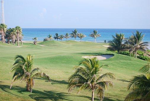 Jamaica, Resort, Golf, Sea, Sand, Beach, Tropical