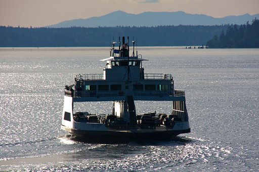 Ferry, Harbor, Boat, Pacific, Harbour, Transportation