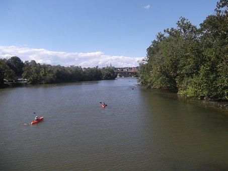 Kayak, River, Georgetown, Water, Kayaking, Boat