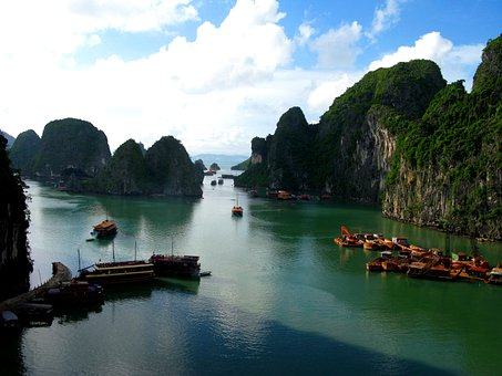 Ha Long Bay, Sea, Water, Ship, Ships, Boot, Boats