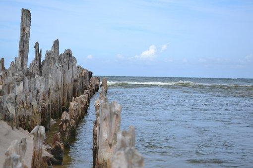 Breakwater, Sea, Of The Sea, Pale, Water