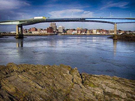 St Johns, New Brunswick, Bridge, City, Buildings