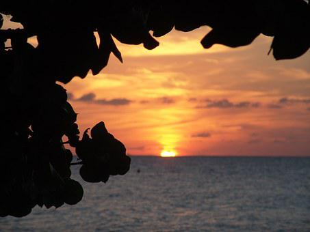 Sunset, Jamaica, Caribbean, Tropics, Exotic, Summer