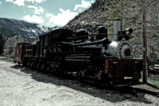 Locomotive, Railway, Georgetown, Mine Town, City