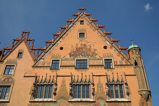 Town Hall, Ulm, Window, Facade, Painting, Ulmer Hall